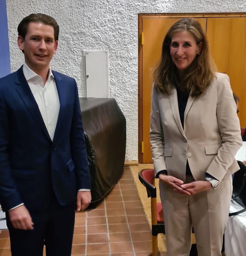 Landrätin Baier Müller Und Österr Bundeskanzler Kurz
