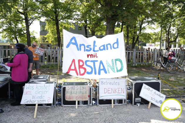 Demo Augsburg Corona107