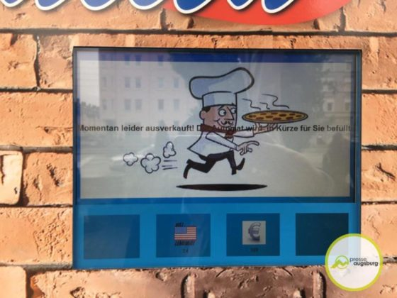 pizzaautomat1-560x420 In Augsburg gibt es Pizza al Forno aus dem Automaten Augsburg Stadt Bildergalerien News Videos Wirtschaft Augsburg Pizza Pizzaautomat |Presse Augsburg