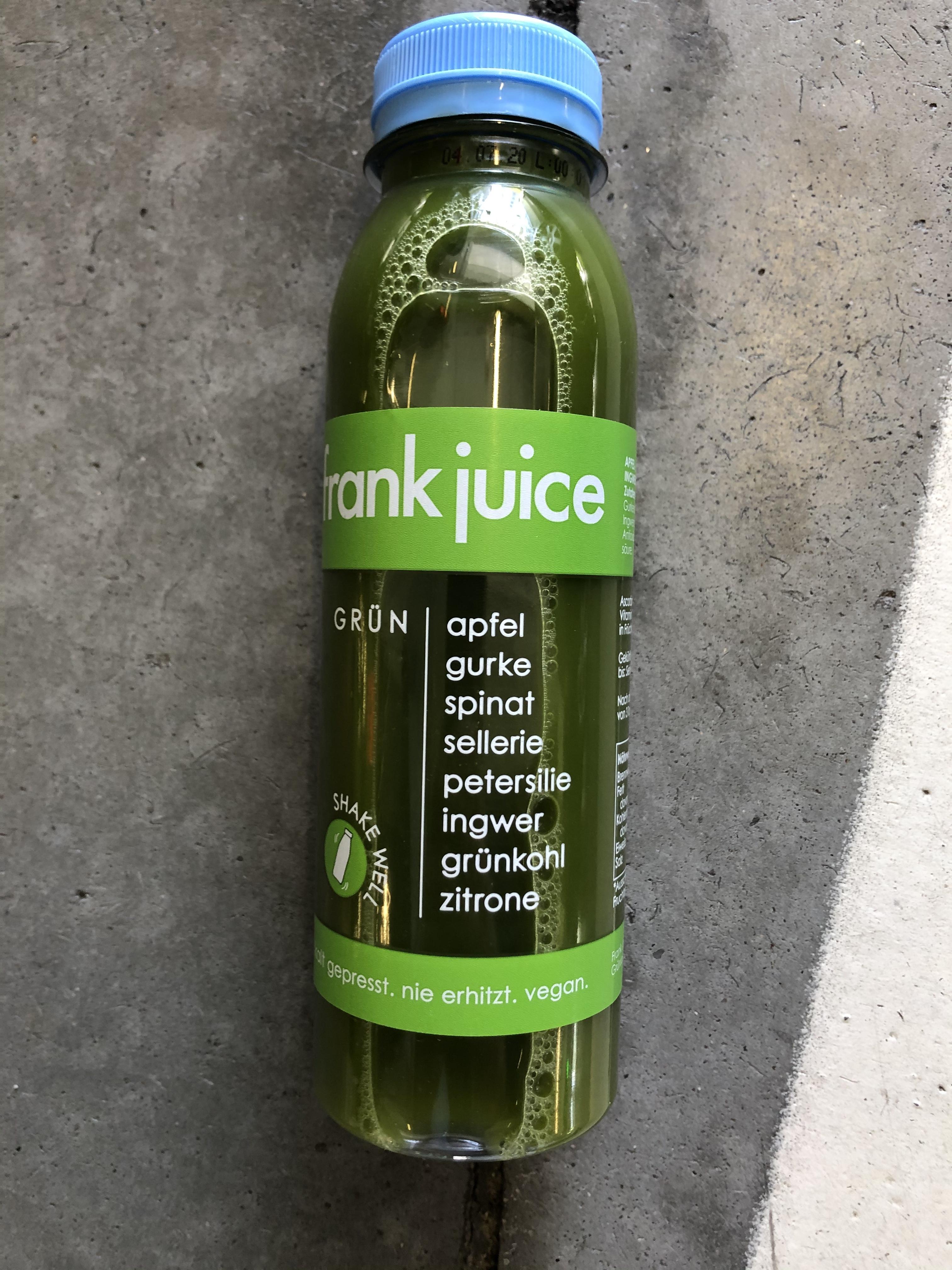 Produktrueckruf Frank Juice Gruen 330Ml
