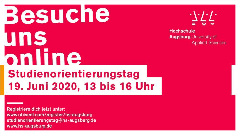 HSA_Virtueller_Studienorientierungstag_1920x1080px Virtueller Studienorientierungstag der Hochschule Augsburg Augsburg Stadt Campus News |Presse Augsburg