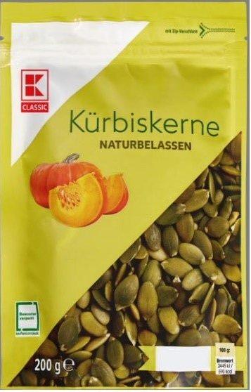 Produktrueckruf K Classic Kuerbiskerne Naturbelassen 200 G