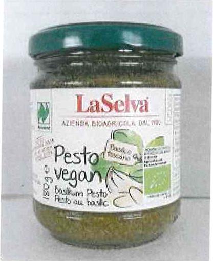 Produktrueckruf La Selva Pesto Vegan Basilikum Pesto