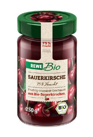 Produktrueckruf Rewe Bio Sauerkirsch 75 Frucht