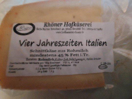 Produktrueckruf Kaese Vier Jahreszeiten Italien Schnittkaese Aus Rohmilch Mind 45 Fett I Tr