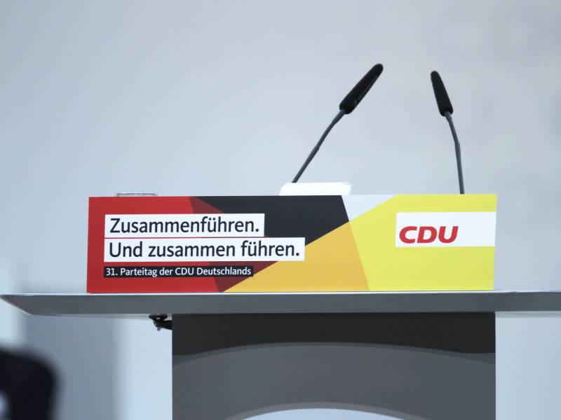 Unionsfraktionschef Will Cdu Fuehrung Vor Parteitag Klaeren