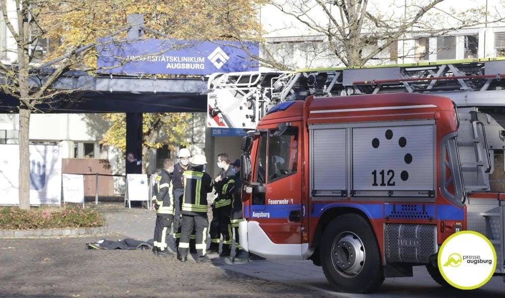 UNIKLINIK_002 Feuerwehreinsatz am Universitätsklinikum Augsburg Augsburg Stadt News Newsletter Polizei & Co Region |Presse Augsburg