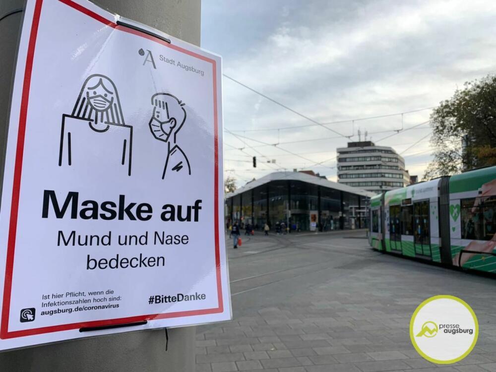 corona-augsburg-maske1 Augsburg bestätigt 175 neue Covid-19-Fälle - Inzidenz-Wert gesunken Augsburg Stadt Freizeit Gesundheit News Newsletter |Presse Augsburg