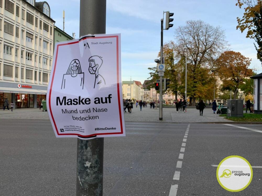 corona-augsburg-maske3 Neue Allgemeinverfügung regelt Corona-Maßnahmen in Augsburg Augsburg Stadt Freizeit Gesundheit News Newsletter Politik Allgemeinverfügung Augsburg Corona Covid19 Maskenpflicht |Presse Augsburg