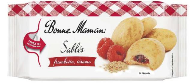 Produktrueckruf Bonne Maman Sables Framboise Sesame 150 G Ean 3178530412840