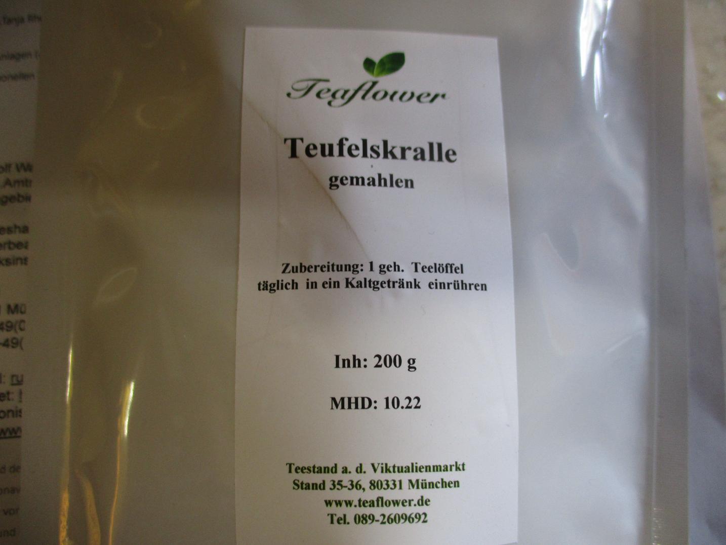 Produktrueckruf Teaflower Teufelskralle Gemahlen
