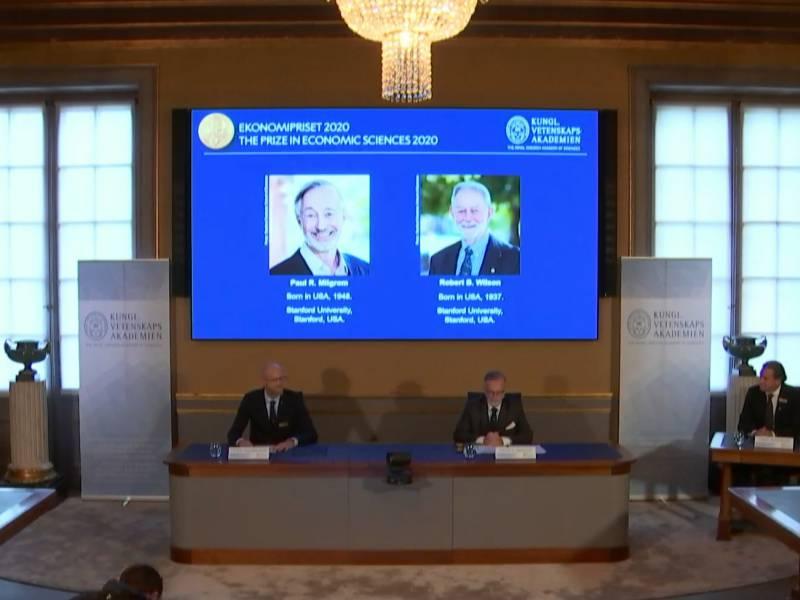 Us Oekonomen Milgrom Und Wilson Erhalten Wirtschaftsnobelpreis
