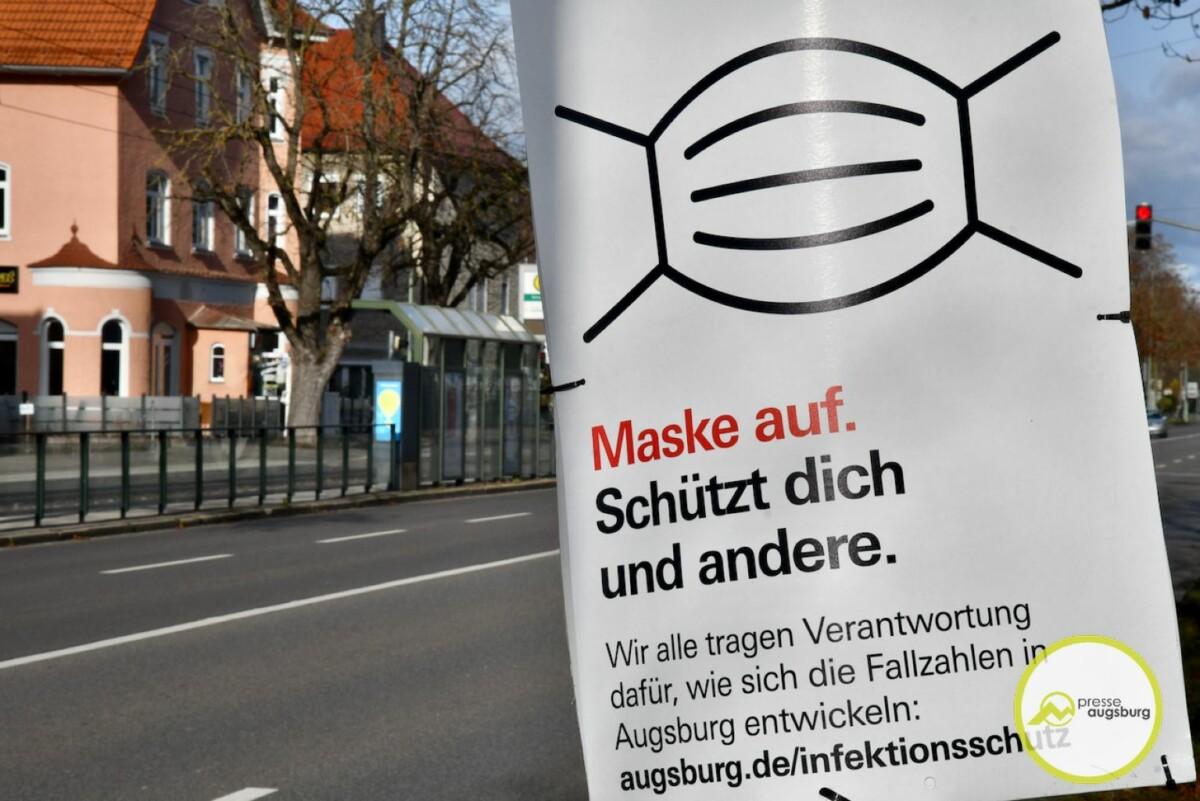 2020-11-17-Plakate-gegen-Corona-cwo-13 Corona in Augsburg | 7-Tages-Wert sinkt auf 278,2 Augsburg Stadt Freizeit Gesundheit News |Presse Augsburg