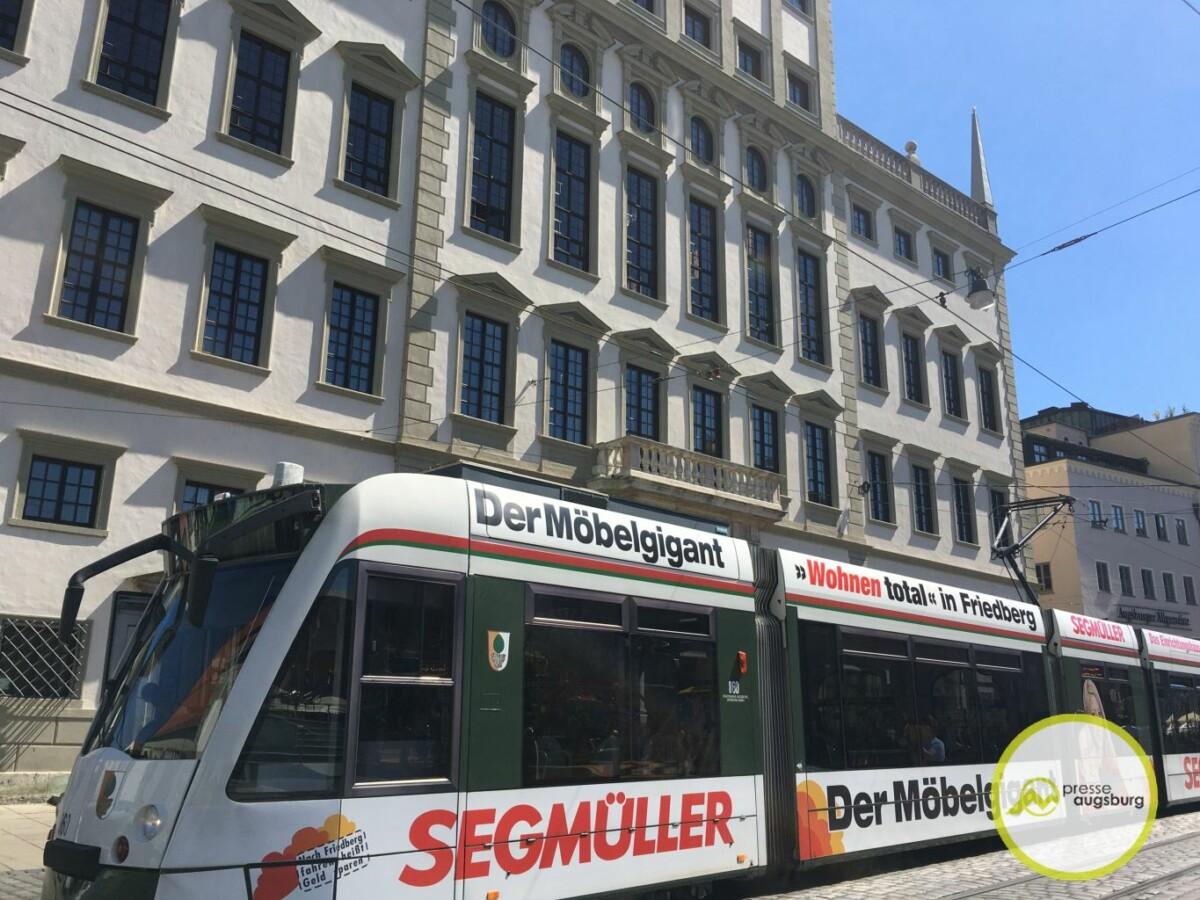 Strassenbahn Augsburg Rathausplatz