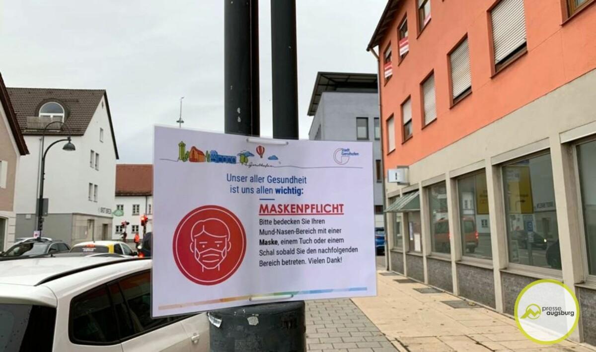 corona-maskenpflicht-gersthofen-landkreis-1 Landkreis Augsburg meldet 102 Corona-Neuinfektionen - 7-Tages-Inzidenz etwas gesunken Freizeit Gesundheit Landkreis Augsburg News |Presse Augsburg
