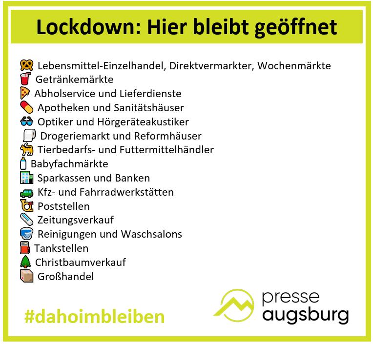 Lockdown Grafik Presse Augsburg