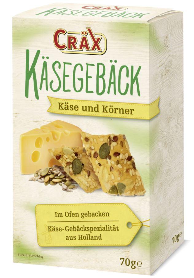Produktrueckruf Craex Kaesegebaeck Kaese Koerner