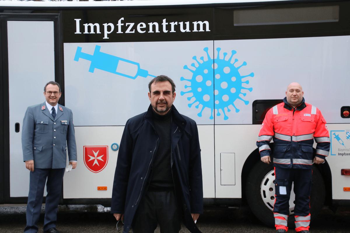Malteser Impfbus Vorstellung Mit Gesundheitsminister Holetschek