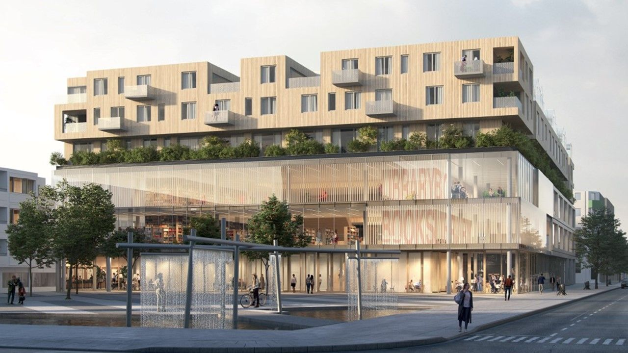 Visualisierung Lew Buero Blocher Partners Stuttgart