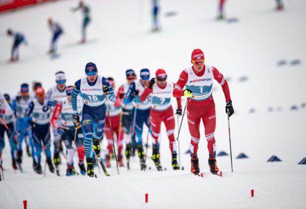 Alexander Bolshunov From Rsf Leads The Field The Cross Country Men 150Km Classic 150Km Free Skiathlon
