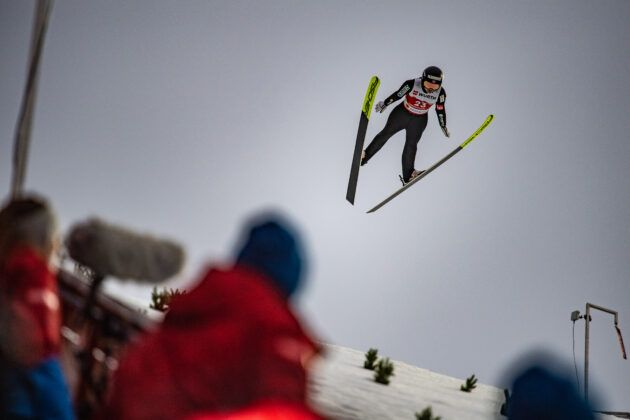 030321 Db16488Thea Minyan Bjoerseth From Norway Competes The Ski Jumping Women Large Hill Individual