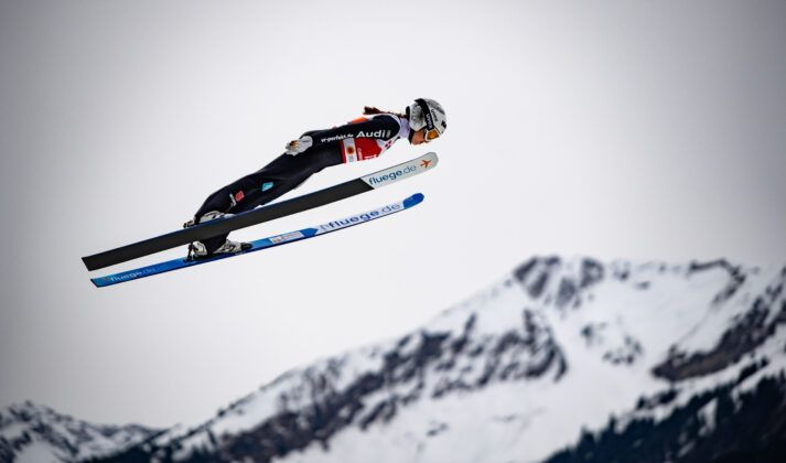 Juliane Seyfarth From Germany Competes The Ski Jumping Women Large Hill Individual