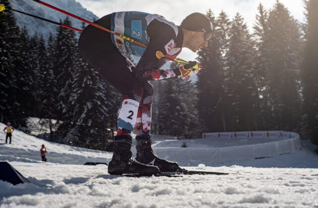 Lukas Greiderer Aut Competes During The Cross Country Men Nordic Combined Team Sprint Lh2X75Km