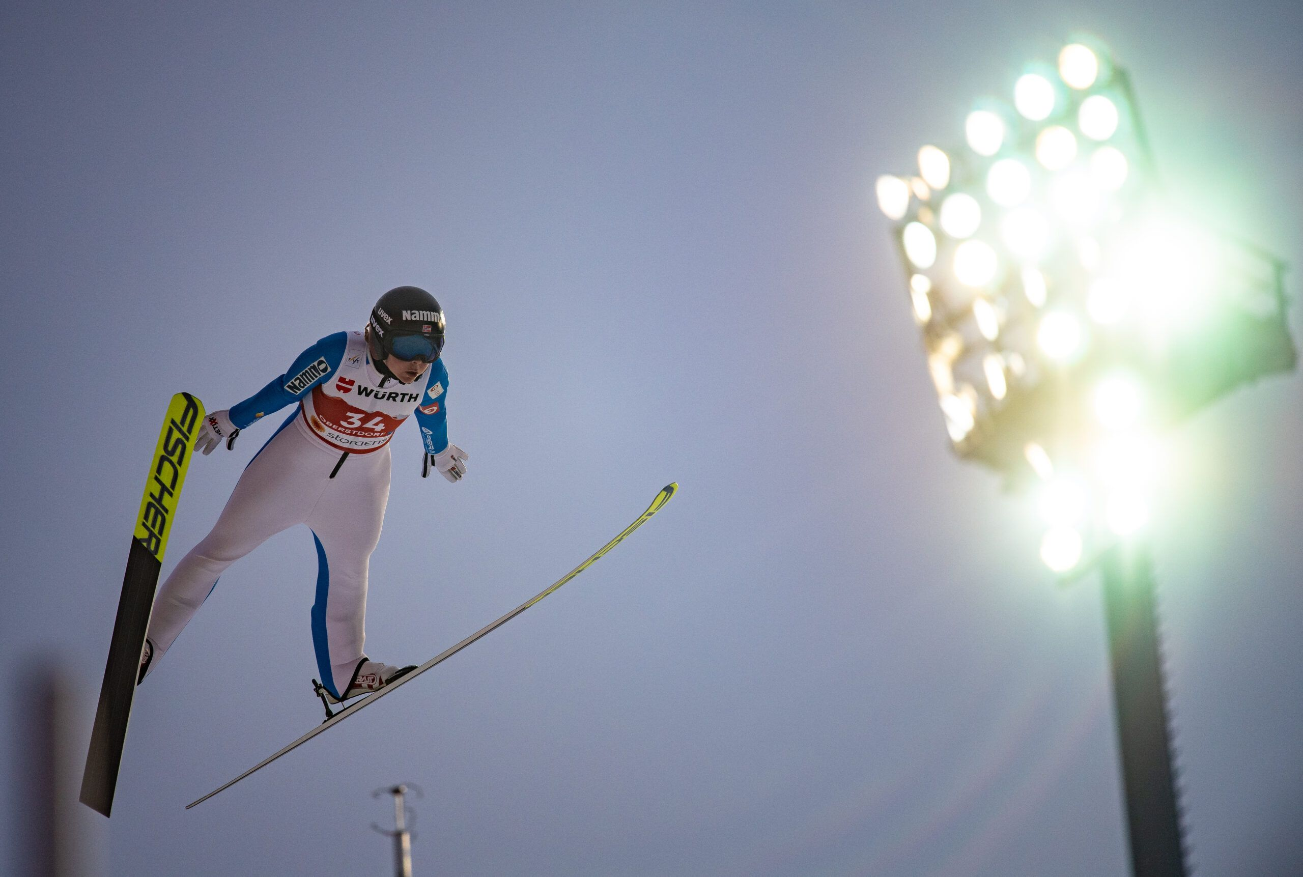 Maren Lundby From Norway Competes The Ski Jumping Women Large Hill Individual Scaled