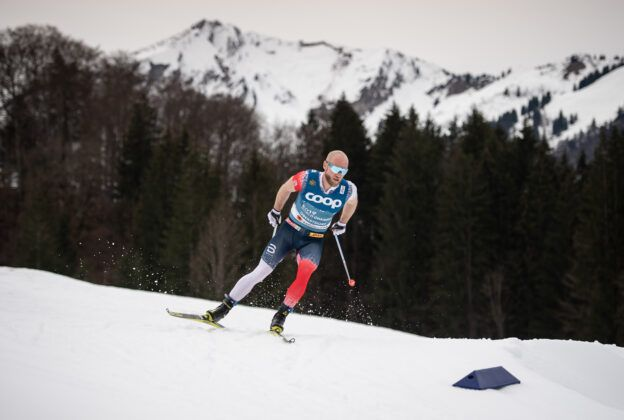Martin Johnsrud Sundby From Norway Competes The Cross Country Men 150 Km Interval Start Free