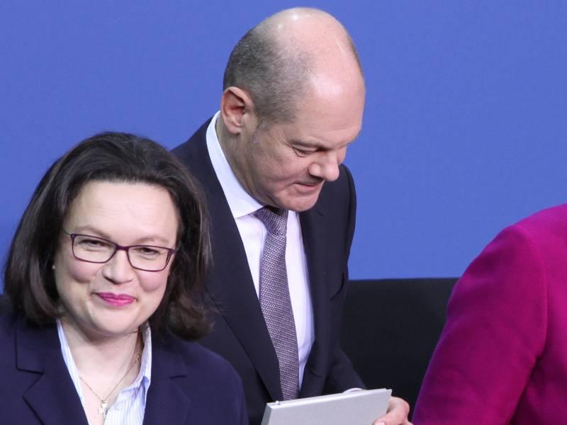 Ex Spd Chefin Nahles Wirbt Fuer Scholz