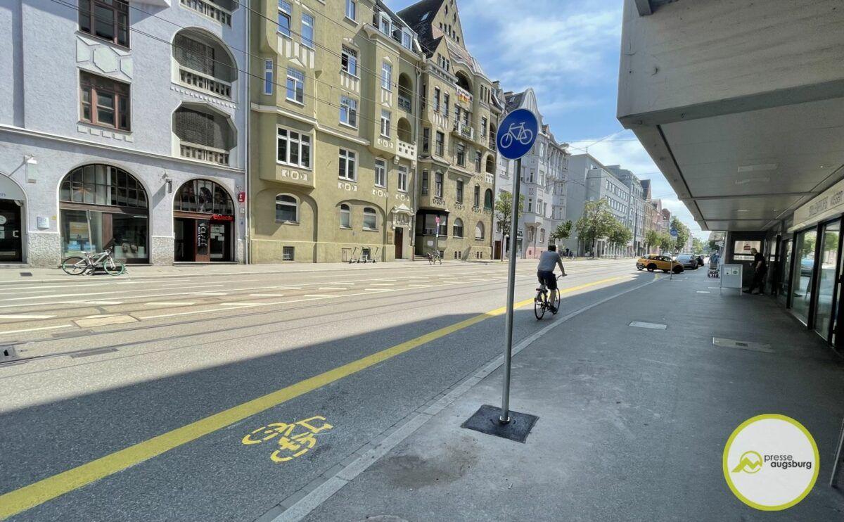 Fahrradstreifen Hermanstrasse