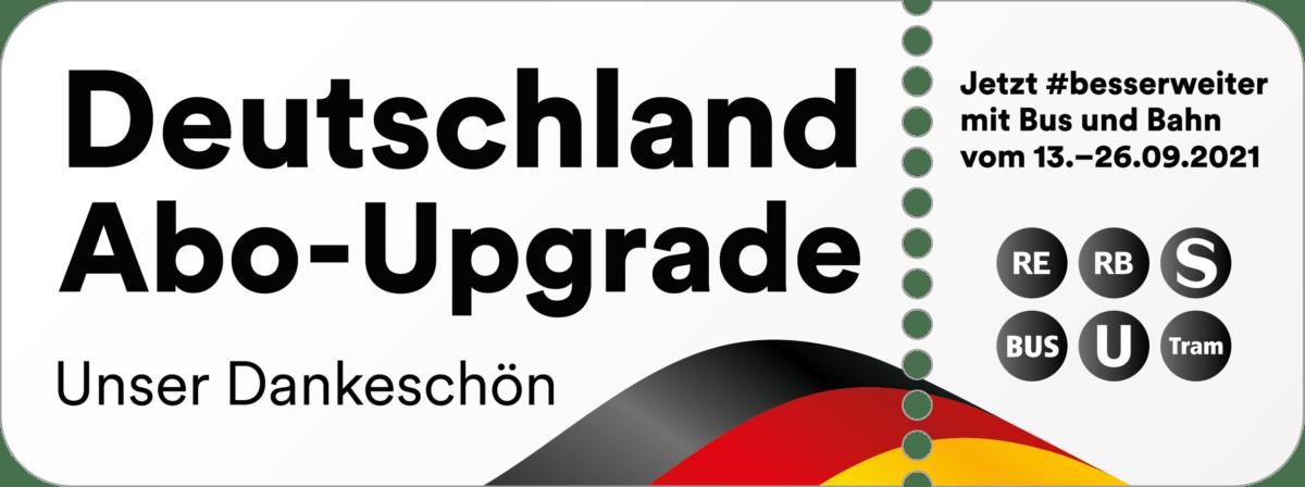 186 20 010 Deutschland Abo Upgrade Aktionslogo Danke