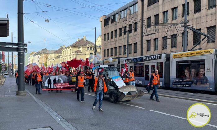 Bauarbeiterdemo Augsburg11