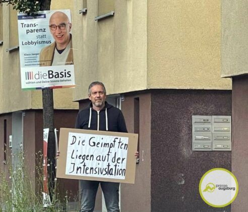 Corona Gegner Demo Donauwoerther Strasse Augsburg1