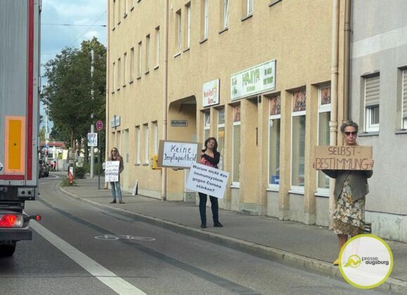 Corona Gegner Demo Donauwoerther Strasse Augsburg2
