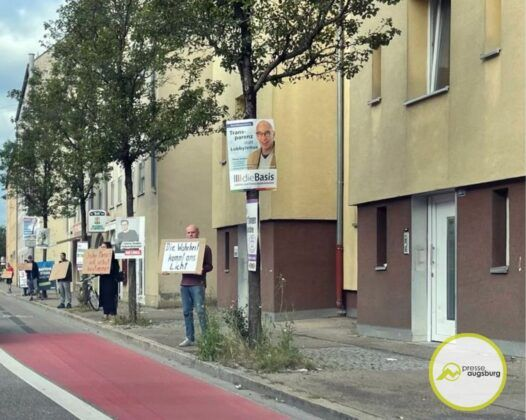 Corona Gegner Demo Donauwoerther Strasse Augsburg4